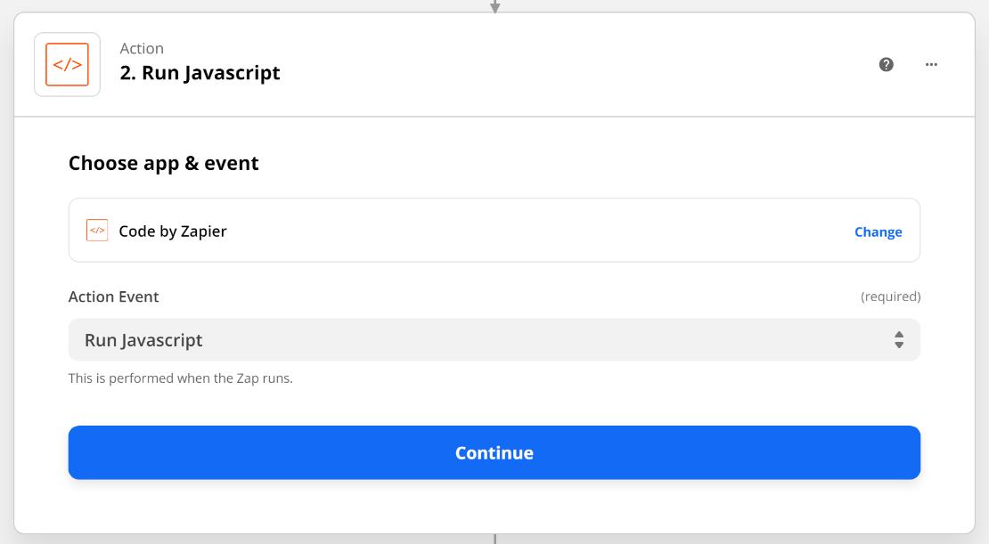 Zapier Run Javascript