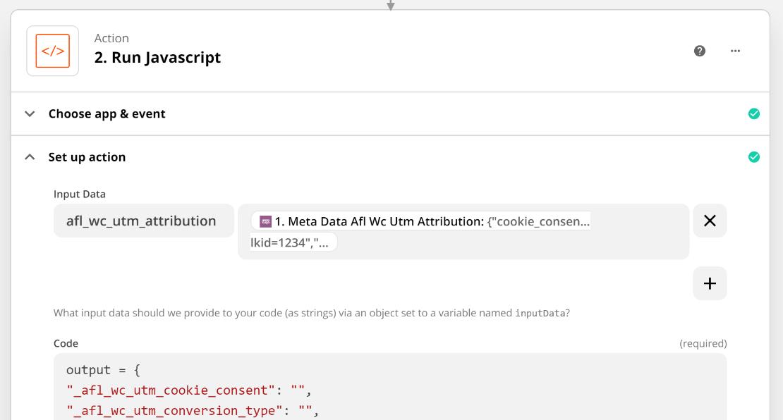 Zapier Input Data